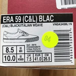 1643c91429 Vans Shoes - Vans Era 59 Low Sneakers Black Leopard Trim